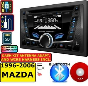 1996 2006 Mazda Double Din Am fm Cd Bluetooth Usb Aux Car Stereo Radio Pkg