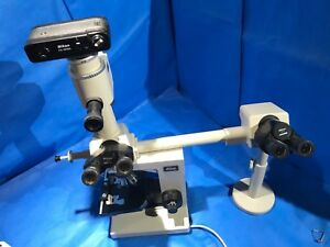 Nikon Labophot Dual Head Teaching Micoscope W Hfx iia 2 Objectives
