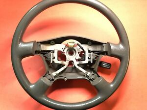 2000 2002 Toyota Tundra Sequoia Steering Wheel Cruise Equipped Gray Used Oem