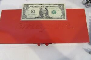 Snap On Tools Kra253 12x5 Metal Red Storage Box Only Clean Exc Sockets Fb57