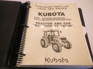 Kubota M5700hd Hdc Dths Dthsc Tractor Cab Illustrated Parts Manual Jj1
