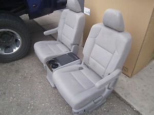 New Unused Gray Cloth Seats With Console Truck Van Bus Rv Hotrod Classic Car