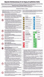 Notice Board Dangerous Substances General Operating Instructions For Use Of