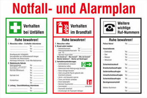 Notice Board Fire Protection Emergency And Alarmplan S10270