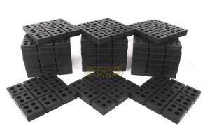 24 All Rubber Anti Vibration Pads Isolation Dampen Industrial Heavy Duty 6x6x3 4