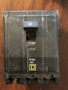 Square D Qob360 Breaker 3 Pole 60a 60 Amp Bolt On New Nos