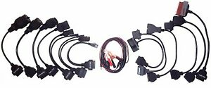 Car Cableset Obd2 Diagnosis Adapter Set 14teilig For Vw Bmw Fiat Mb Vauxhall Psa