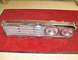 1959 Edsel Corsair Ranger Chrome Left Grille Headlight Bezel Assemble