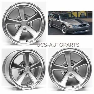 17 Ford Mustang V6 Or Gt Replacement Wheels Rims For 1994 2004 Set Of 4 New