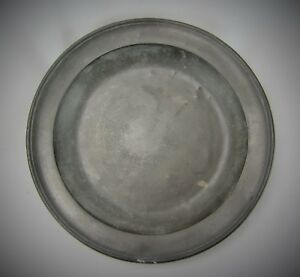 Large Antique Pewter Bowl Or Deep Charger By Townsend Compton London 1805
