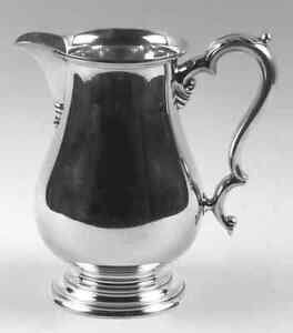 Sterling Silver Water Pitcher Lord Saybrook By International 4 1 4 Pints 8 75