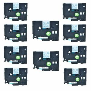 10pk Tz Tze 133 Blue On Clear Label Tape For Brother P touch Gl 100 12mm 1 2