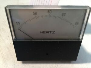 Hertz 55 65 Hz Analog Panel Frequency Meter