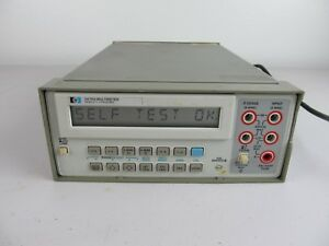Agilent Hp 3478a Benchtop Dmm Digital Multimeter Tested Working