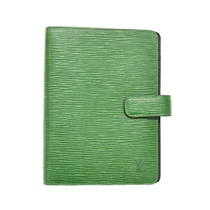 Authentic Louis Vuitton Epi Leather Day Planner Card Case Agenda Mm Green France