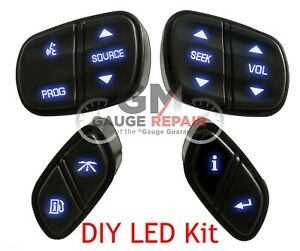 Gm Steering Wheel Controls Switches Bulb To Blue Led Upgrade Kit Easy Diy 03 06