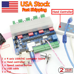 in Usa 4 Axis Stepper Motor Usbcnc Controller Tb6560 Driver Board hand Control