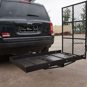 Wheelchair Trailer Hitch Mount Mobility Carrier Loading Ramp Disability Medical