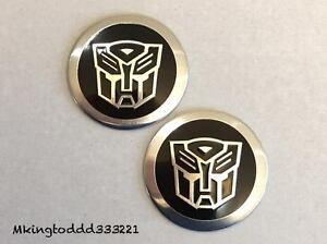 2x Used Universal Car 2 Transformers Autobot Emblems For Toyota Lexus Honda