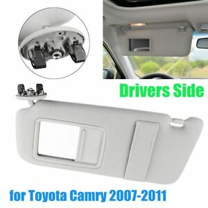Front Left Driver Side Sun Visor W Mirror Gray For Toyota Camry 2007 2010 2011