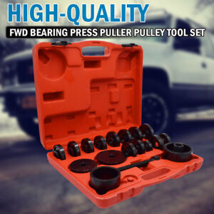 23pcs Fwd Front Wheel Drive Bearing Removal Adapter Tool Puller Pulley Kit Truck