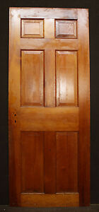 2 Avail 30 X76 Antique Vintage Colonial Solid Wood Wooden Interior Door 6 Panel