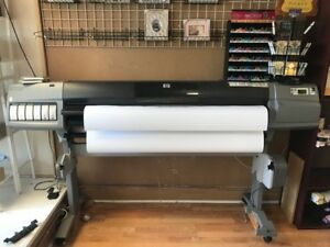 Hp Designjet 5500ps 60 Printer Color Inkjet Plotter Wide Format Network