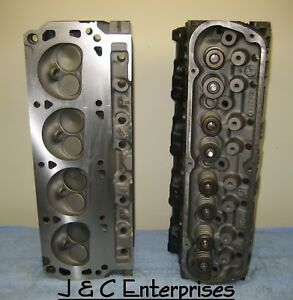 Pair 5 0 Small Block Ford Gt40 Cylinder Heads F3ze Casting 302 No Core 3 Bar