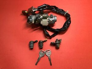 1996 1998 Honda Civic Ignition Door Trunk Lock Cylinder Switch Set Matched Used