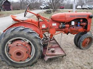 Antique Allis Chalmers Ca Tractor 1951 With Disc Plow Farming Farm Equipment