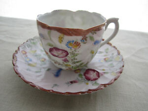 Vintage Japanese Hand Painted Porcelain Small Tea Cup