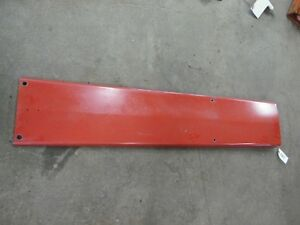 International Harvester 1066 Tractor Center Hood Panel Tag 5007