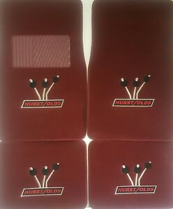 New Floor Mats 1983 1988 Olds Hurst Lightning Rod Logo 4 Piece Carpets