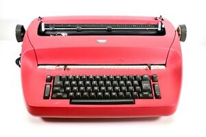 Ibm Selectric Electric Typewriter Red For Parts