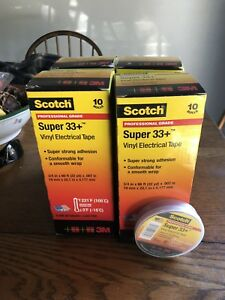 4 Boxes Of 10 In Each 40 Rolls Total Scotch Super 33 3 4 In X 66 Ft New