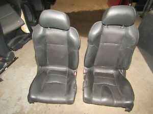 03 06 350z Black Leather Left Right Power Electric Track Bucket Seat Set Oem