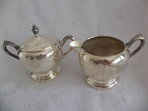 Fb Rogers Silver Co Silver Plated Creamer And Sugar Bowl