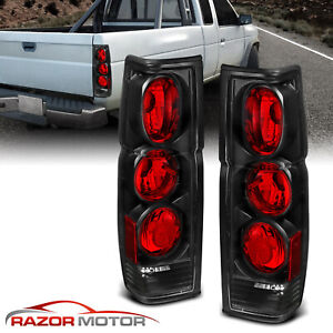 1986 1997 Black Rear Brake Tail Lights Pair For Nissan Hardbody Pickup D21 Jdm