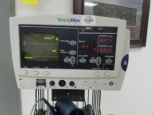 Welch Allyn 62000 Atlas Monitor 5 Lead Ecg Cable Nellcor Probe Spo2 Nibp Cuff
