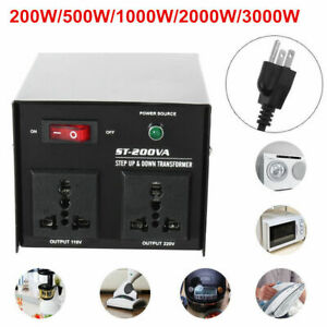 200 3000w Step up down Voltage Transformer Converter Circuit Breaker Protection