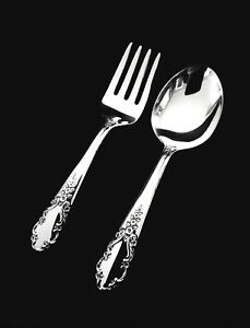 Rogers Bridal Veil Sterling Silver Baby Fork And Spoon Set Gift Quality
