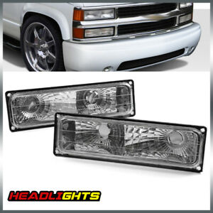 For Chevy 88 98 Silverado Pickup Bumper Parking Lights Turn Signal Lamps Pair