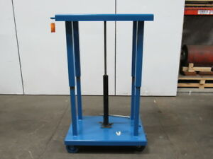 Wesco 260066 4000 Lb Lift Table Die Cart H d 24 x36 37 60 On Casters