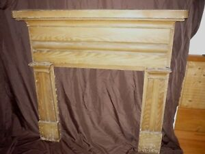 Fireplace Mantle 19th Century Authentic Antique