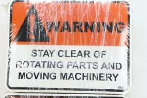 Lot Of Approx 300 Warning Stay Clear Of Rotating And Moving Machinery Labels