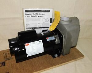Dayton 4ua68 Centrifugal Pump 1 2 Hp 1 Phase 1 1 2 Npt Inlet outlet