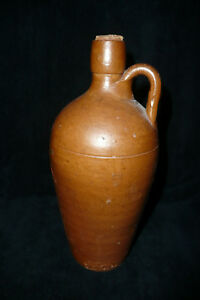 Vintage Primitive 9 Barcelos Pottery Stoneware Moonshine Bottle Jug Portugal