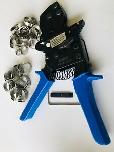 Pex Ratchet Cinch Clamp Crimper Tool 3 8 1 With 30 Pcs Ss Clamps