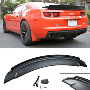 Fit 10 13 Chevy Camaro Zl1 Style Black Rear Trunk Spoiler W Wicker Bill