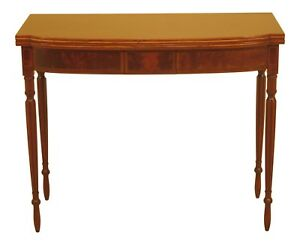 46707ec Kittinger Cw 318 Colonial Williamsburg Sheraton Mahogany Game Table